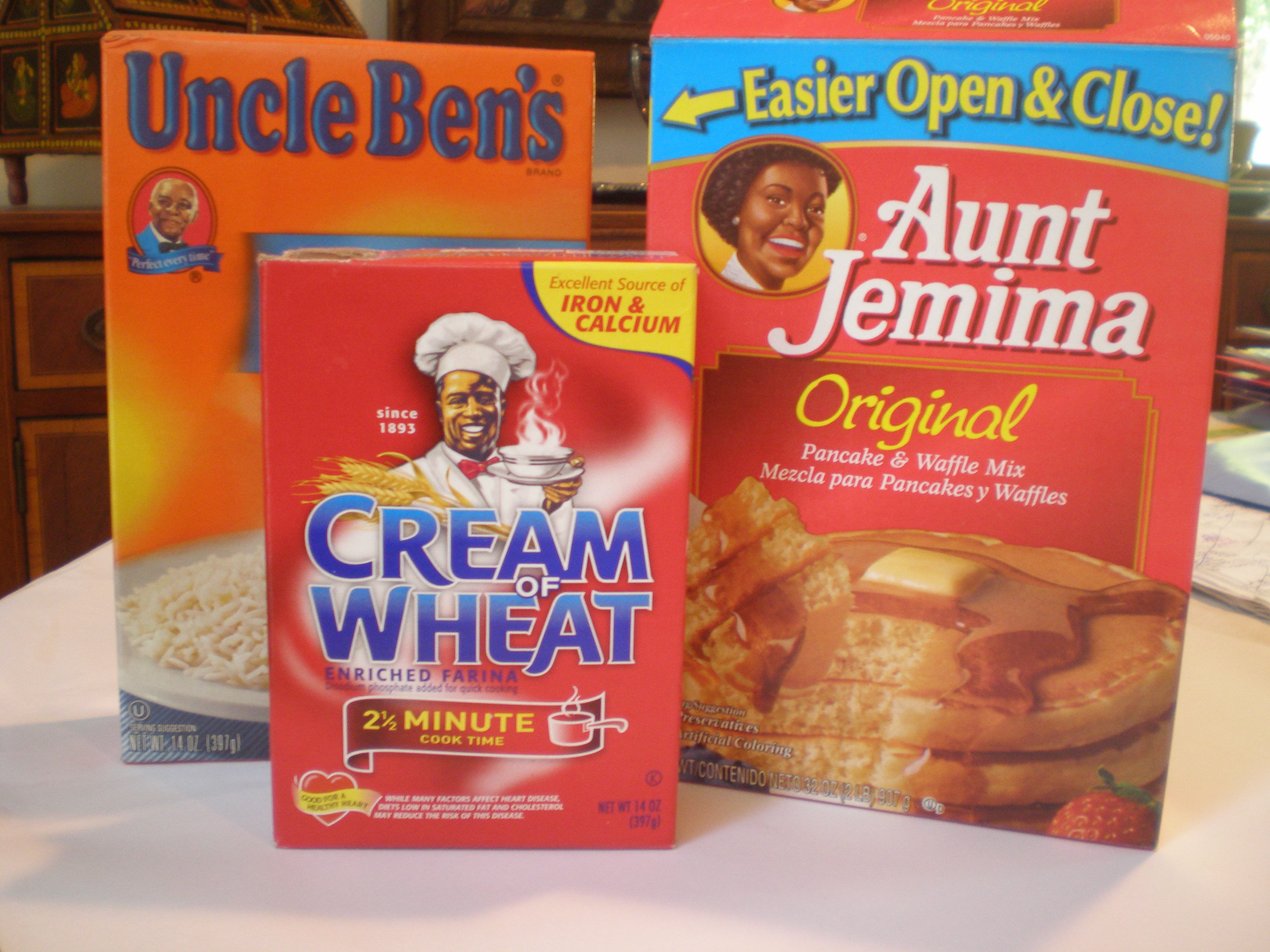 Aunt Jemima and Uncle Ben