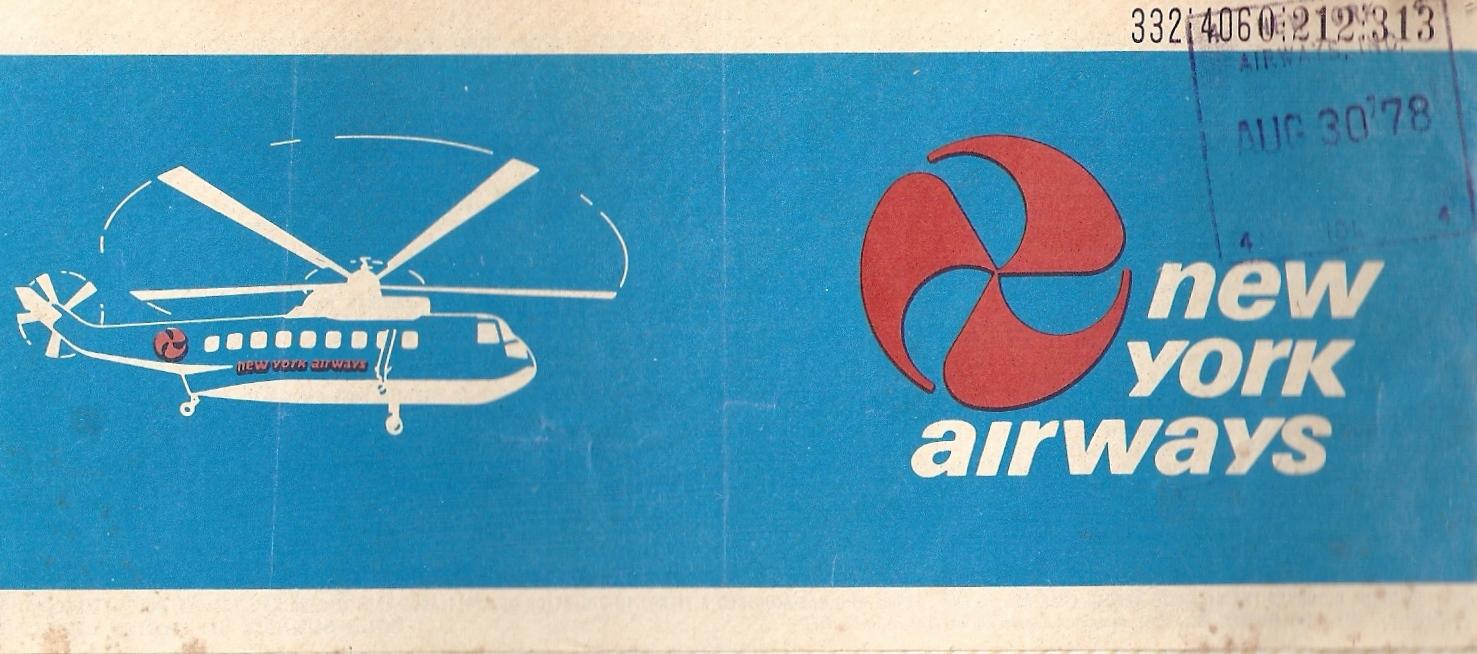 New York Airways Ticket from 1979