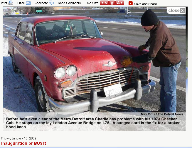 Checker Cab Article Detroit News