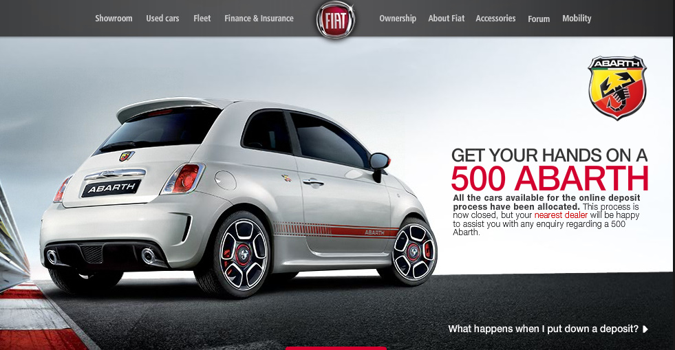Abarth model made by Fiat