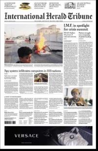 International Herald Tribune Redesign