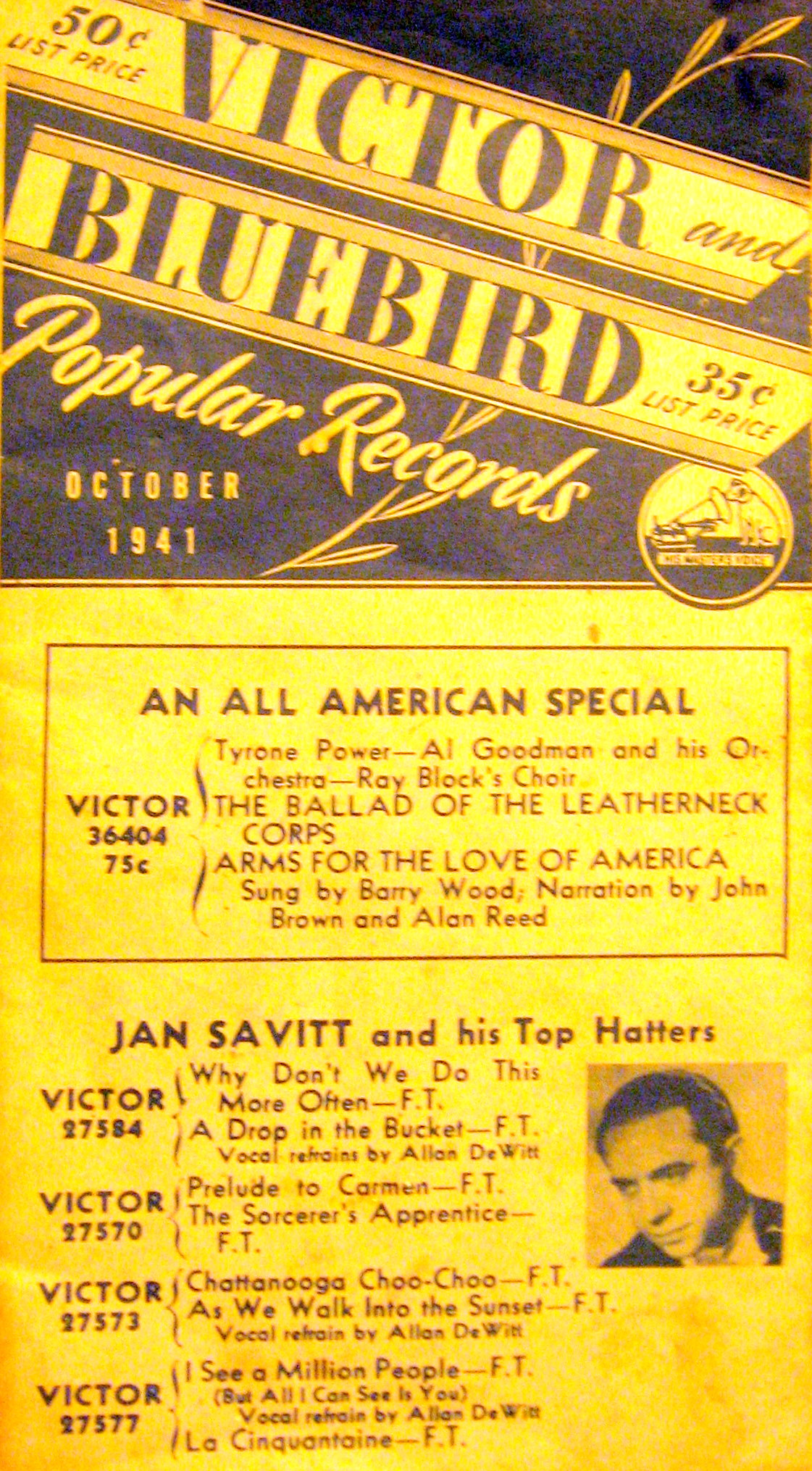Victor Bluebird Popular Records 1941