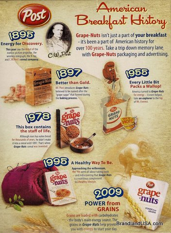Grape Nuts Celebrate C.W. Post Heritage