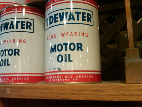 Tidewater motor oil washed up at cracker barrel for Motor oil by the barrel