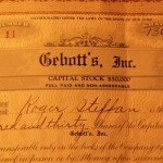 Historic stock certificate of New York company
