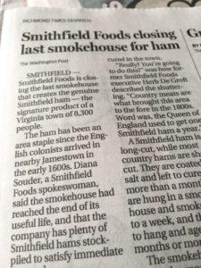 Chinese Smithfield Says No To More Smithfield Hams